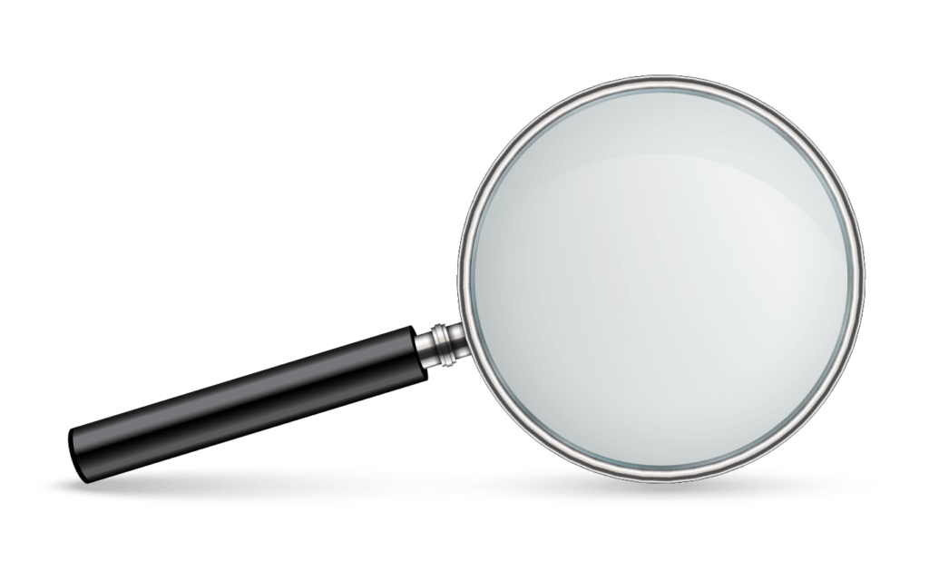 magnifying eyeglass